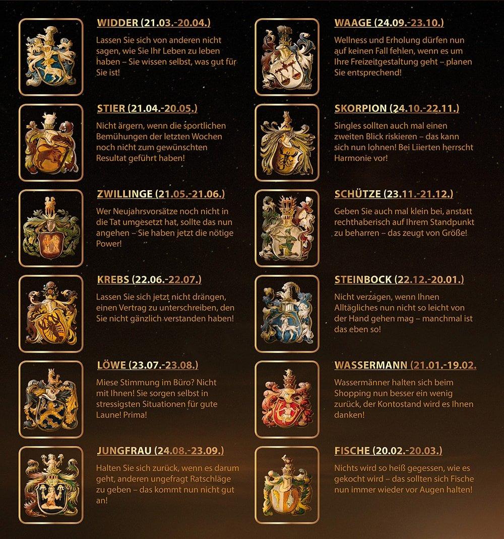 Horoskop April 2017